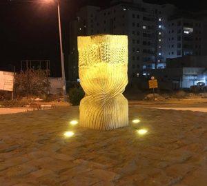 תאורה בכיכר החיטה