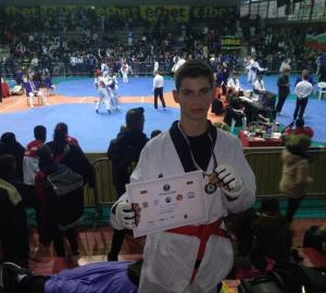 ליאור מזרחי – זכה במקום הראשון בתחרות הטאקוונדו