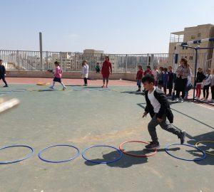יום ספורט ויצירה לפורים בשיתוף בתי הספר בשכונה