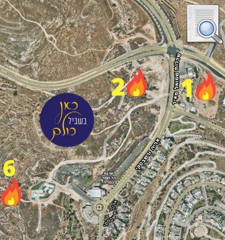 מפה מיקומי מדורות שדרות שמואל מאיר